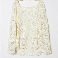 2013 summer lace vintage crochet embroidery long shirt from ljttlesunshine93
