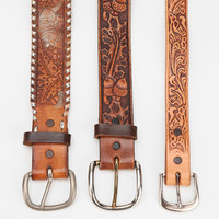 Urban Outfitters - Urban Renewal Vintage Tooled Leather Belt