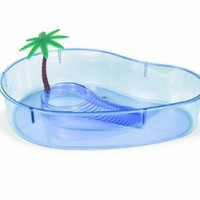 Amazon.com: Lee's Turtle Lagoon, Kidney w/ Plant, 14-Inch by 10-1/8-Inch by 3-Inch: Pet Supplies