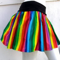 Rainbow TuTu Skirt NYAN CAT S-1X Roller Derby GAY Circus Brite | PoppysWickedGarden - Clothing on ArtFire