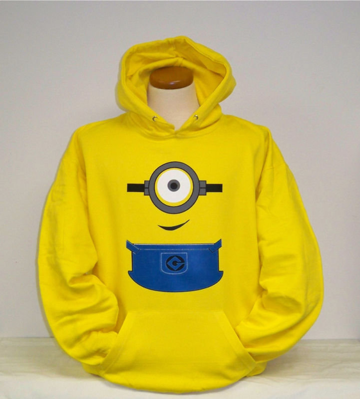 Image gallery minion hoodie for Minion clothespins