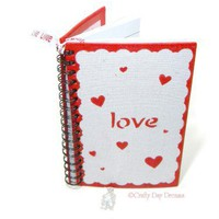 Red Hearts of Love Spiral Bound Journal Notebook w. Ribbon Bookmark | CraftyDayDreams - Paper/Books on ArtFire