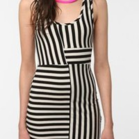 Fade Pieced Striped Dress