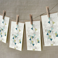 Note Card Set Love Triangles by witandwhistle on Etsy