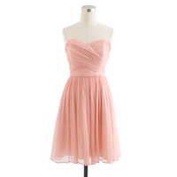 Arabelle dress in silk chiffon - Chiffon - Women's weddings & parties - J.Crew