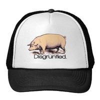 Disgruntled Pig Mesh Hats from Zazzle.com
