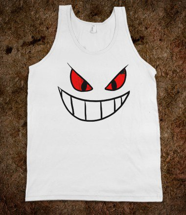Gengar Face tank top tee t shirt - Its a hit - Skreened T-shirts, Organic Shirts, Hoodies, Kids Tees, Baby One-Pieces and Tote Bags