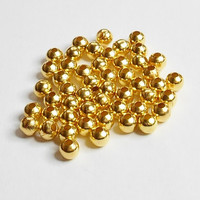 Gold Plated Round Spacer Beads 4mm