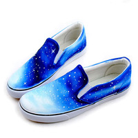 [grhmf219000024]Vintage Galaxy Starry Sky Canvas Shoes