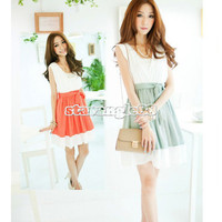 Fashion Women Spring And Summer Beautiful V Vest Dress Match Chatelaine New SA88