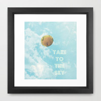 BALLOON LOVE - Take to the Sky © Framed Art Print by JUSTART
