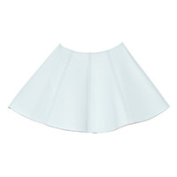 Dakota Seamed Leather Mini Skirt In Sky by Opening Ceremony for Preorder on Moda Operandi
