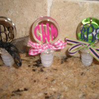 Personalized Monogram Acrylic Wine Bottle Stopper