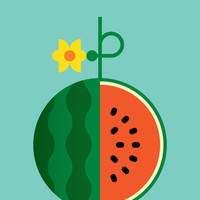 Fruit: Watermelon Art Print by Christopher Dina