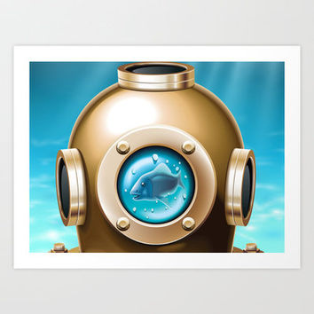 Underwater Art Print by Texnotropio