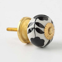 Anthropologie - Silhouetted Zinnia Knob