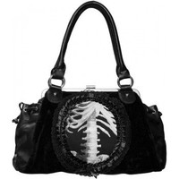 Gothic shop: black skeleton handbag by Restyle