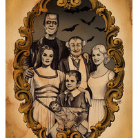 The Munsters (8x10 signed print with border)