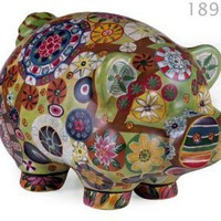 IMAX Folkart Piggy Bank
