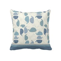 Whale Tale Throw Pillows from Zazzle.com