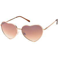 Luvs Eye Heart Gold Sunglasses at Zumiez : PDP