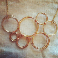 Hand Wrapped Gold Plated Bubble Necklace