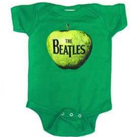 Beatles Apple Onesuit Baby Bodysuit, Green (0-6 months)