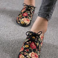Floral oxford shoes from 2NDAPRIL