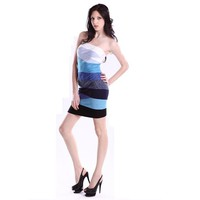 Limited Time Only!Bqueen Curved Ombre Strapless Dress H152E2 - Bqueen women shoes,Bqueen designer shoes on sale