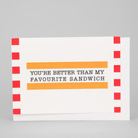 Urban Outfitters - Favorite Sandwich Card