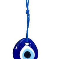 "Evil Eye Charm - 1.5"" inches with Hanging String - Eye Talisman"