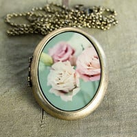 Shabby Chic Fine Art Photo Locket by HeartworksByLori on Etsy