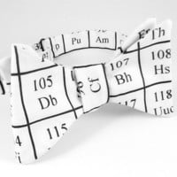 Periodic Table of Elements Men's  Freestyle/Self Tie/Hand Tie Bow Tie