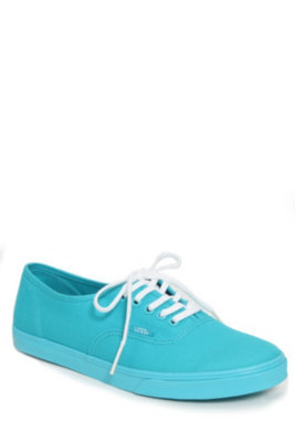 VANS SCUBA BLUE TRUE WHITE AUTHENTIC LO PRO LACE-UP SNEAKER