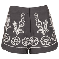 Embellished Contrast Shorts - Shorts - Clothing - Topshop USA