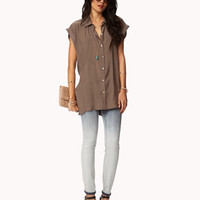 Buttoned Back Tunic | FOREVER 21 - 2048860730