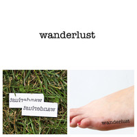 Quotes - Wanderlust - Temporary Tattoo (Set of 2)