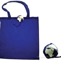 PLANET EARTH REUSABLE SHOPPING BAG - BLUE