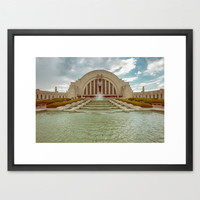 Vintage Cincinnati Union Terminal Framed Art Print by Wood-n-Images