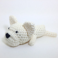 Frenchie Dog Crochet French Bulldog Amigurumi Puppy Kids Toy Stuffed Animal Plush Handmade Doll / Made to Order