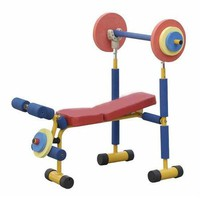 Redmon Fun and Fitness Exercise Equipment for Kids - Weight Bench Set