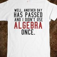 DIDN'T USE ALGEBRA ONCE TEE TSHIRT