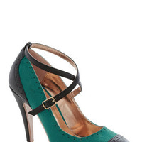 Concert in the Square Heel in Teal | Mod Retro Vintage Heels | ModCloth.com