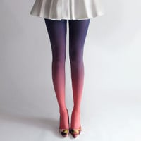 BZR Ombré tights in Sky