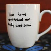 You Have Bewitched Me/Pride and Prejudice Round Mug by caffetempo