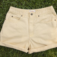 Light Yellow High Waisted Shorts