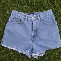 High Waisted Denim Gap Shorts