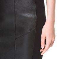 FAUX LEATHER MINI SKIRT - Skirts - Woman | ZARA United States