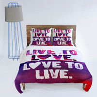 DENY Designs Home Accessories | CMYKaren Live To Love Duvet Cover