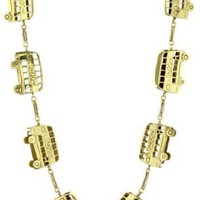 "Pure Dead Brilliant ""London"" Station London Bus Necklace, 27"""